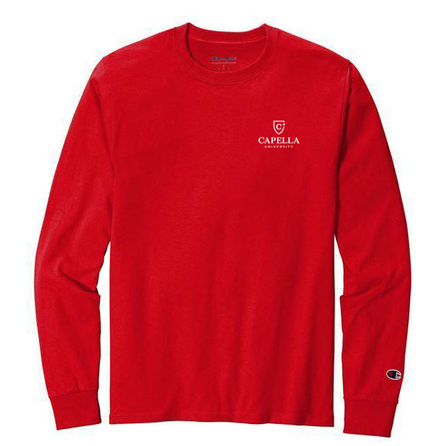 Champion ® Heritage 5.2-Oz. Jersey Long Sleeve Tee - Red