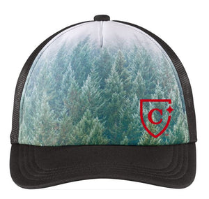 Port Authority ® Photo Real Snapback Trucker Cap - FOREST
