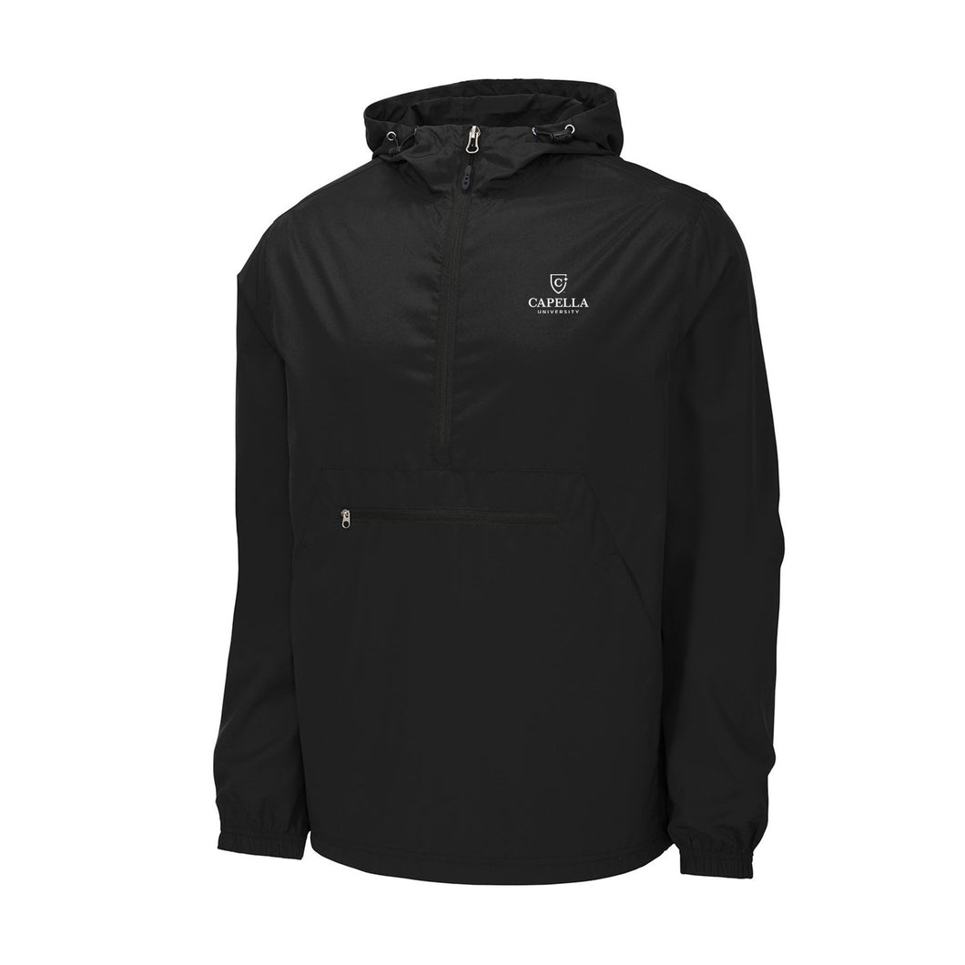 Sport-Tek ® Packable Anorak-BLACK