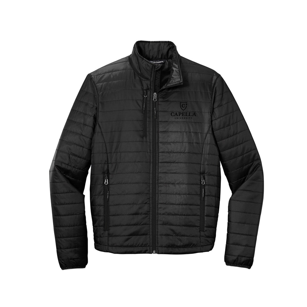Port Authority ® Packable Puffy Jacket-Deep Black