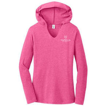 Load image into Gallery viewer, District ® Women's Perfect Tri ® Long Sleeve Hoodie - Fuchsia Frost
