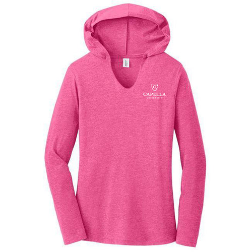 District ® Women's Perfect Tri ® Long Sleeve Hoodie - Fuchsia Frost
