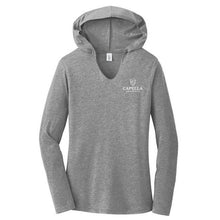 Load image into Gallery viewer, District ® Women's Perfect Tri ® Long Sleeve Hoodie - Grey Frost