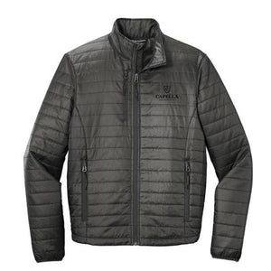 Port Authority ® Packable Puffy Jacket-Sterling Grey/ Graphite
