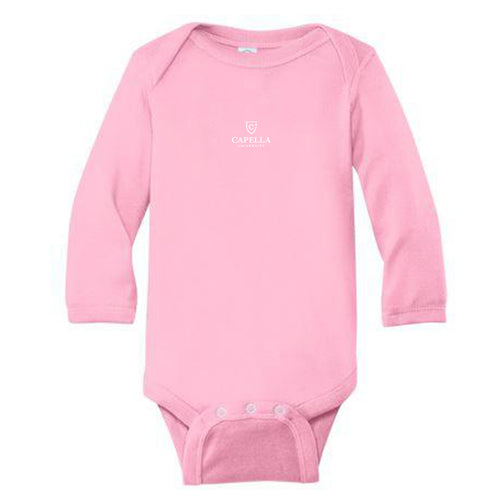 Rabbit Skins™ Infant Long Sleeve Baby Rib Bodysuit-pink