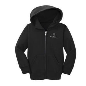 Port & Company® Toddler Core Fleece Full-Zip Hooded Sweatshirt-black