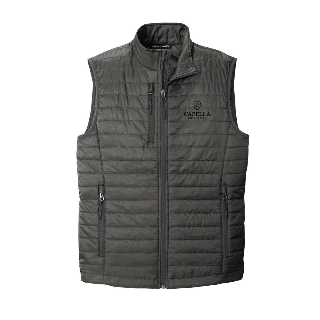Port Authority ® Packable Puffy Vest-Sterling Grey/ Graphite