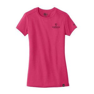 New Era® Ladies Heritage Blend Crew Tee - Deep Pink