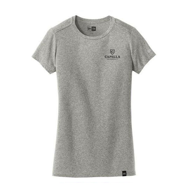 New Era® Ladies Heritage Blend Crew Tee - Light Graphite Twist
