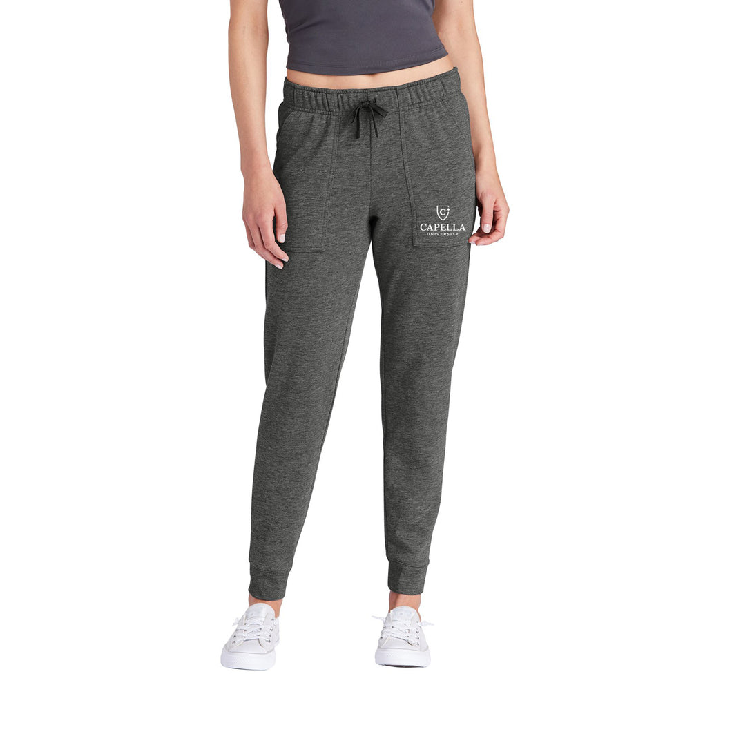 Sport-Tek ® Ladies PosiCharge ® Tri-Blend Wicking Fleece Jogger - Dark Grey Heather
