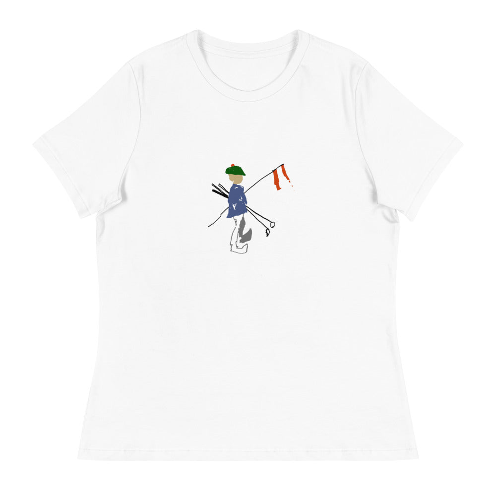 FlagBag Golf Co. Women's Relaxed T-Shirt (Large Logo)