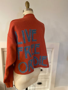Live Free or Die Cropped Pullover