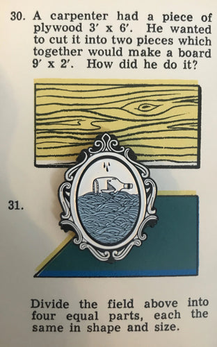 Message in a Bottle on a vintage card
