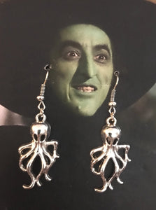 Wicked Witch wearing Octopus Earrings