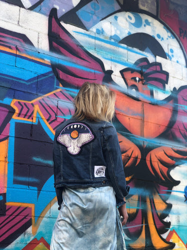 Midnight Owl Denim Jacket