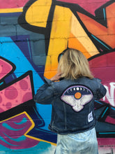 Load image into Gallery viewer, Midnight Owl Denim Jacket