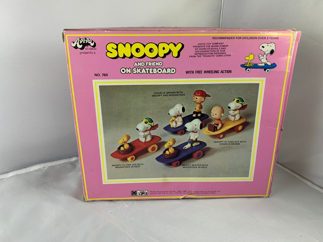 Snoopy and Friends Skateboard Figurines