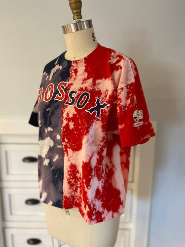 Mixed Up Red Sox Acid Wash Tee