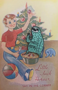 Party Sloth Enamel on Vintage Jack Card