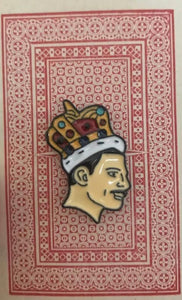 Freddie Mercury Enamel on Vintage Card