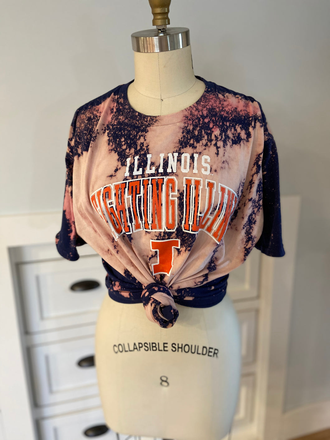 Illinois Acid Wash Tee