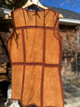 Load image into Gallery viewer, '70s Leather Crochet Vest