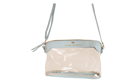 Simply Leather Clear Satchel