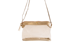 Leather Clear Satchel