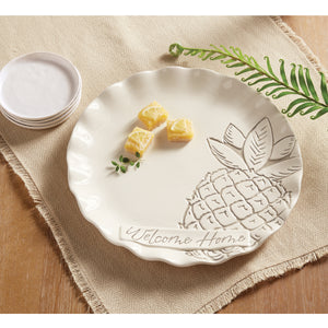 Washed Pineapple Round Tray