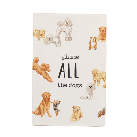 All Dog Watercolor Towel