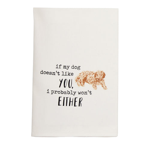 Either Dog Watercolor Towel