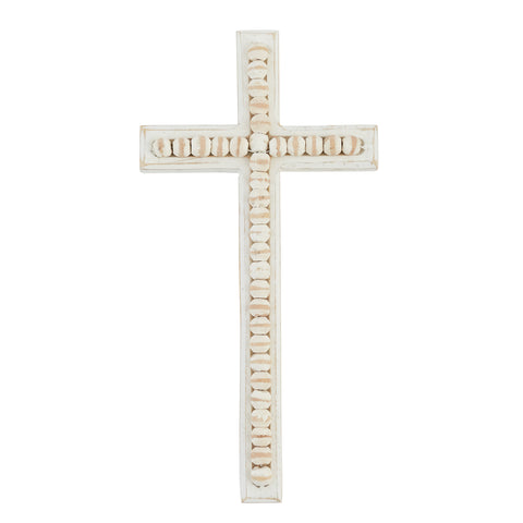 Large Beaded Wood Cross