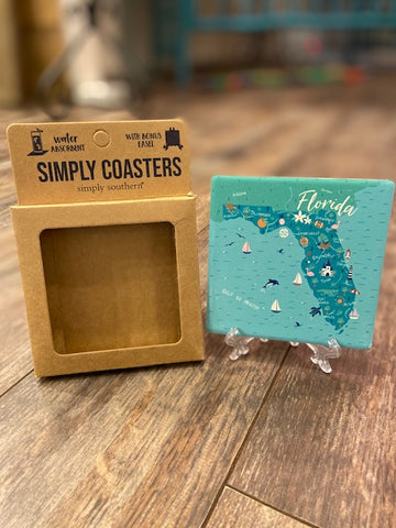 Simply Southern Florida Square Coaster
