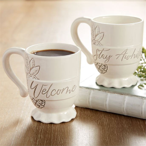 Mudpie Welcome Washed Pineapple Mug