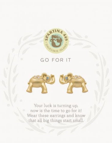 512534 SLV Stud Earrings Go For It