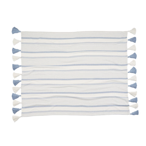 Light Blue Striped Blanket