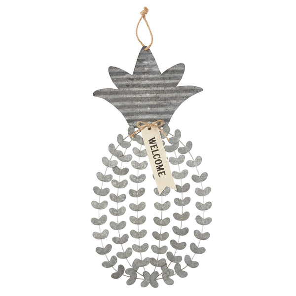 Pineapple Tin Door Hanger