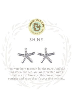 501682 SLV Stud Earrings Shine/Starfish