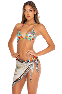 LULI'S JUNGLE - Triangle Top & Scarf • Multicolor