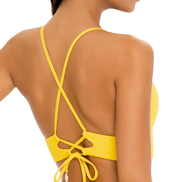 PLAYA VIBES - Cross Back Bustier Top