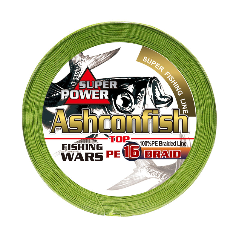 Hollow Core - 16 Strands Braided Fishing Line for Saltwater - 20-750LB -Army Green