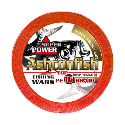 Ashconfish Hollow Core Fishing Line 16 Strands Braid