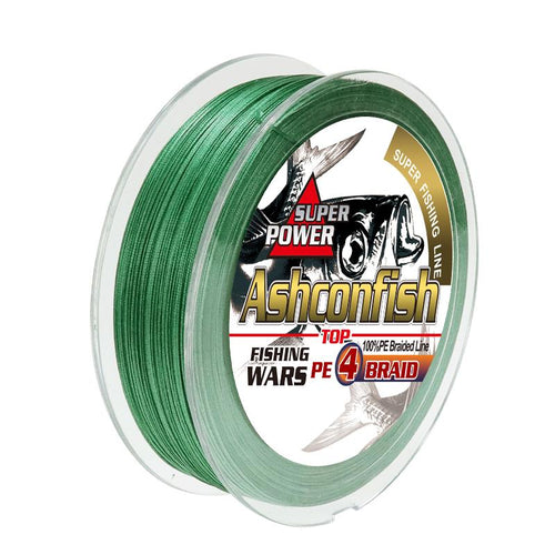 4 strands braided fishing line moss green