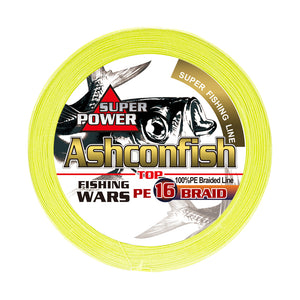Ashconfish Hollow Core 16 strands braided fishing line