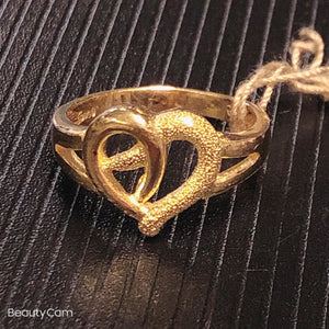 Pure 999.9 LOVE, 24K yellow gold ring
