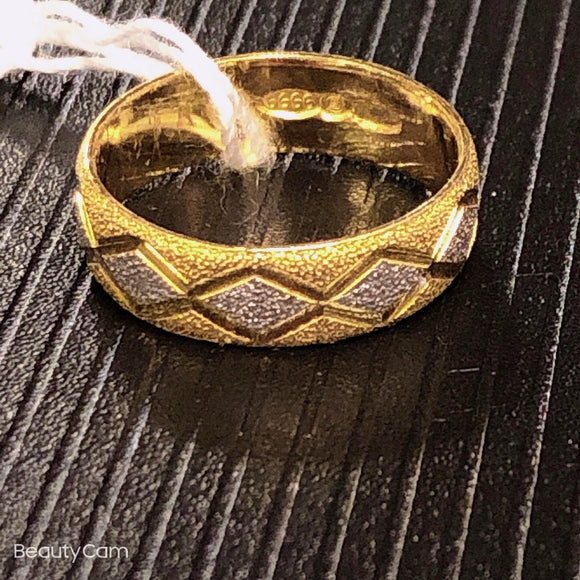 Pure 999.9, 24K yellow gold wedding band