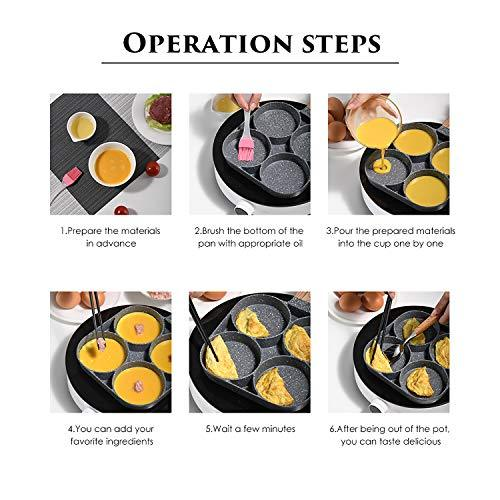 Amazing 4-CUP EGG/BURGER FRYING PAN