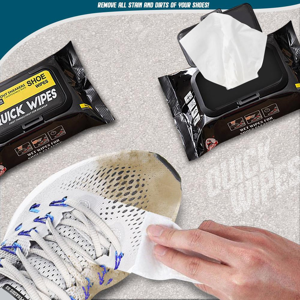 Quick Wipes Sneaker Cleaner (30 Sheets/Box )