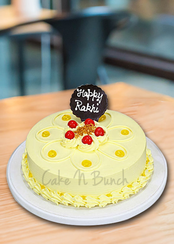 Butter Scotch Rakhi Cake