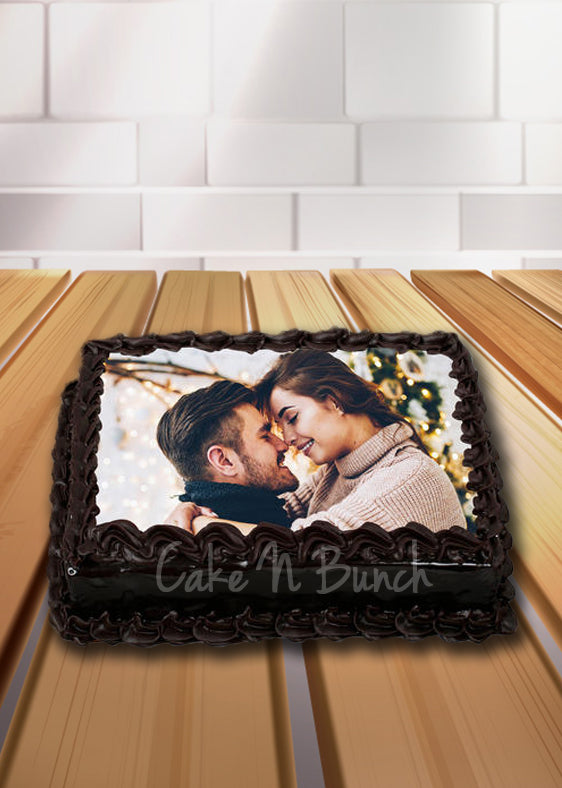 Dark Chocolate Photo Cake